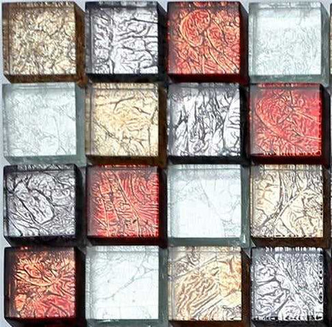 Sample of Glass Hong Kong Autumn Mosaic Tiles Sheet (MT0091)