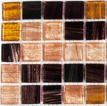Sample of Golden Star Tigers Eye Glass Mosaic Tiles Sheet (MT0062)
