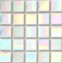 Load image into Gallery viewer, White Iridescent Vitreous Glass Mosaic Tiles (MT0131)