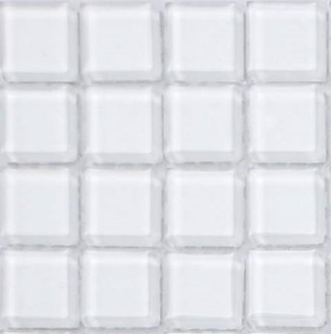 Sample of Superwhite Glass Mosaic Tiles Sheet (MT0079)