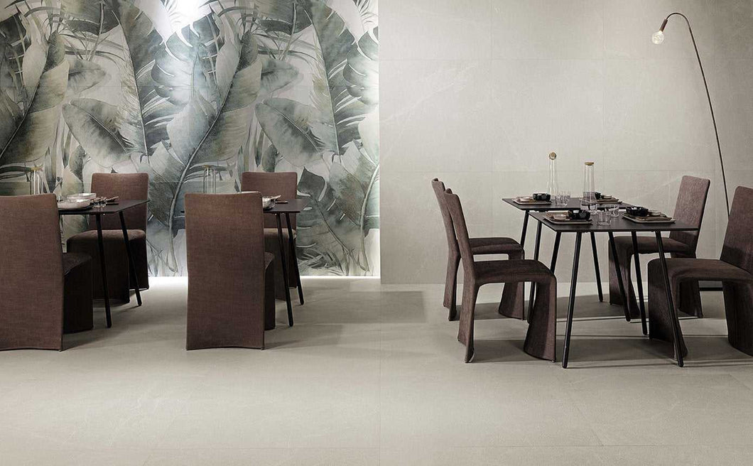 300x600mm Blok White Matt Italian Porcelain Tiles (IT0184)