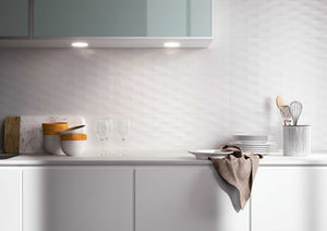 White Gloss Diamond Effect Wall Kitchen Bathroom Tiles | Grand Taps