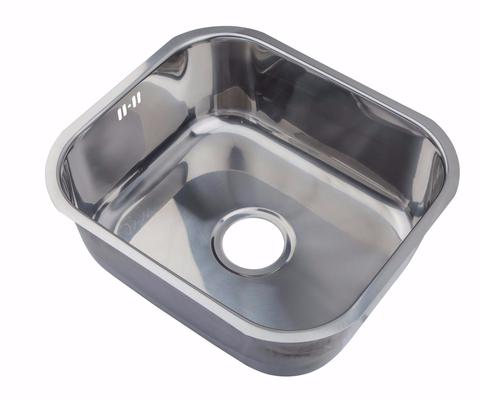 435 x 360mm Undermount Polished Stainless Steel Single Bowl Kitchen Sink (A12)