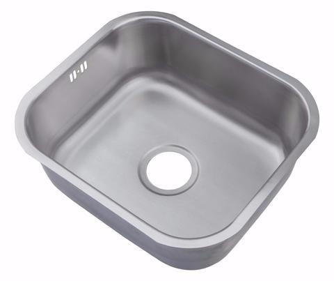 465 x 410mm Undermount Brushed Stainless Steel Single Bowl Kitchen Sink (A15 Bs)