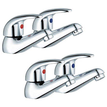 Load image into Gallery viewer, Euro Style Bath And Basin Tap Set (Aero 32)