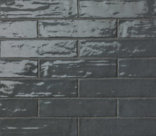 Load image into Gallery viewer, Dark Grey Gloss Brick Wall Tiles | Dark Grey Metro Tiles | Grand Taps