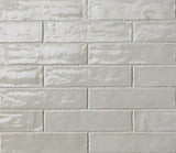 Light Grey Gloss Brick Tiles | Light Grey Metro Tiles | Grand Taps