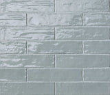 Sky Blue Gloss Brick Wall Tiles | Light Blue Metro Tiles | Grand Taps