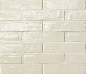 Cream Gloss Brick Wall Tiles | Cream Metro Tiles | Grand Taps