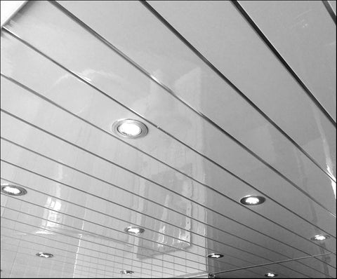 white silver embedded ceiling panel 4 pack