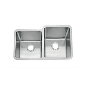Brushed Undermount 1 3/4 Bowls Stainless Steel Sink (D04)
