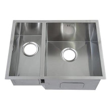 Load image into Gallery viewer, 585 x 440mm Undermount 1.5 Bowl Handmade Stainless Steel Sink (DS009)