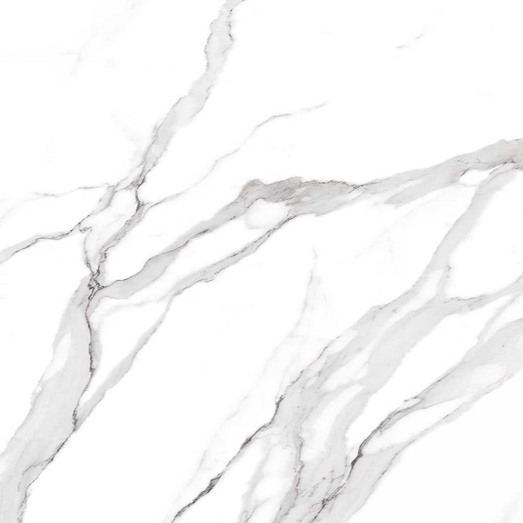 Statuario Matt White Marble Porcelain Floor Tiles | Grand Taps