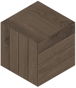 Brown Cube Italian Porcelain Mosaic Tiles (IT0155)