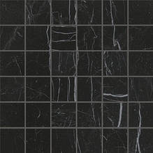 Load image into Gallery viewer, Nero Reale Macromosaic Italian Porcelain Mosaic Tiles (IT0192)