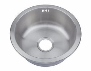445mm Brushed Stainless Steel Round Inset Sink (M08 BS)