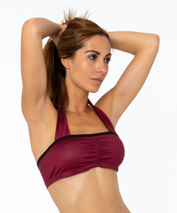 BURGUNDY NECK TOP - Spain Collection