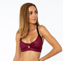 BURGUNDY CROSSED TOP - Spain Collection