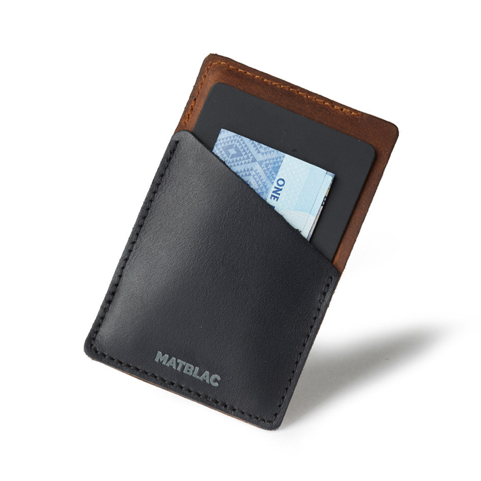 DUAL QUICKDRAW - MATBLAC leather wallet