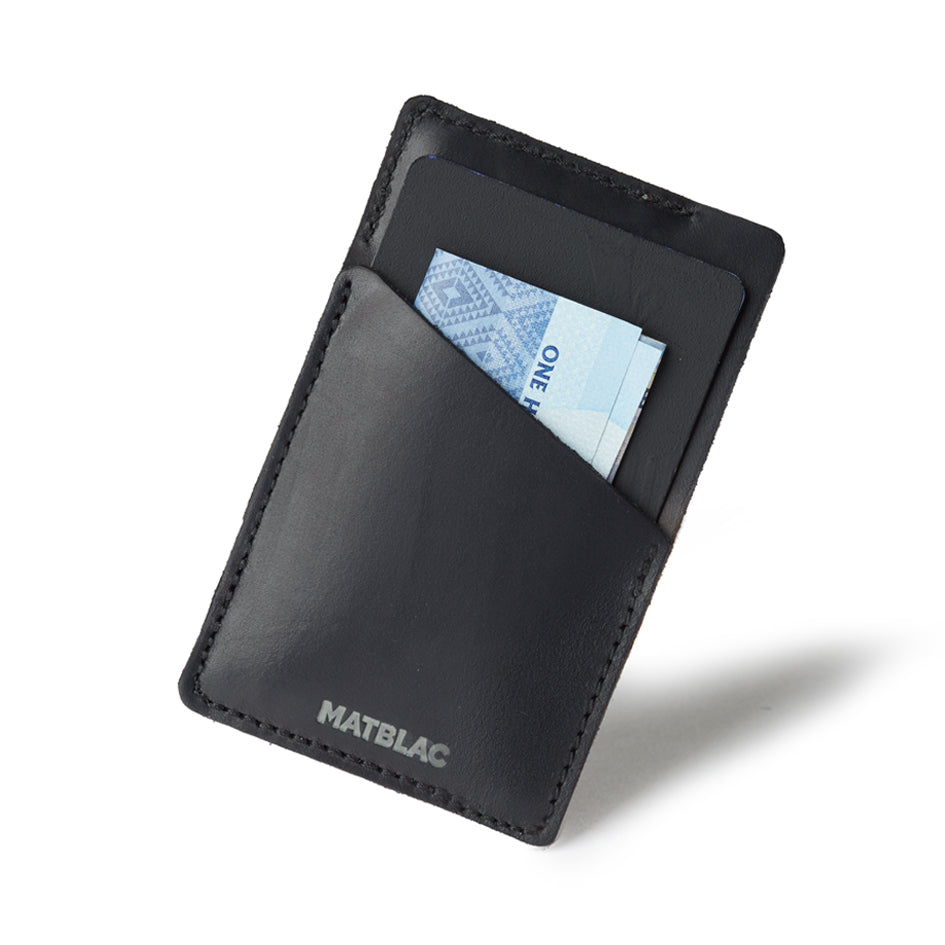 BLACK QUICKDRAW - MATBLAC leather wallet
