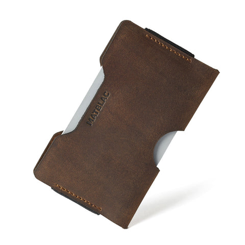 HUNTSMAN MICRO - MATBLAC leather wallet