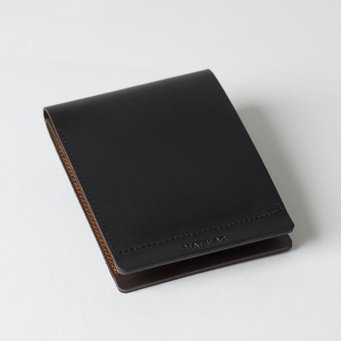 DUAL BILLFOLD - MATBLAC leather wallet