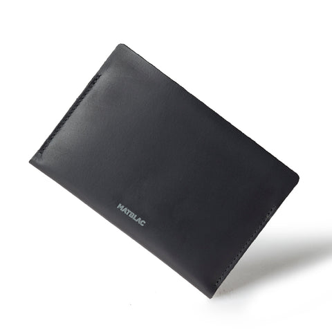 BLACK PASSBOOK - MATBLAC leather wallet