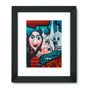 """LOVERS ENCOUNTER"" Framed Fine Art Print"