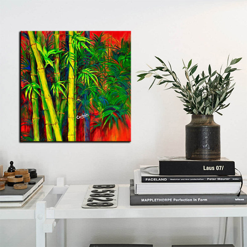 """BAMBOO FOREST"" Stretched Canvas"