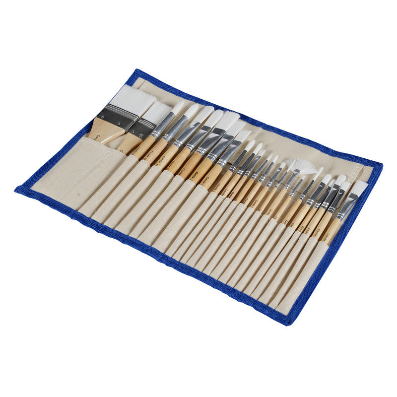 SET OF 24 BRUSHES OF SHORT HANDLE