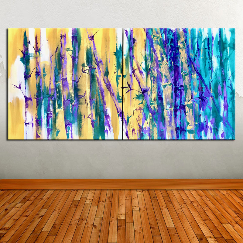 PURPLE BAMBOO (Diptych)