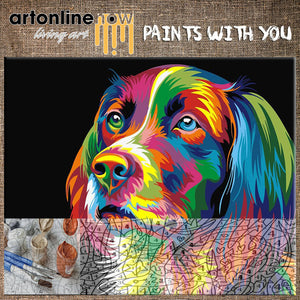 COLORFUL DOG (To Paint)