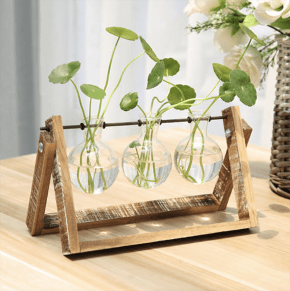 Creative Wooden Stand Glass - Farertop