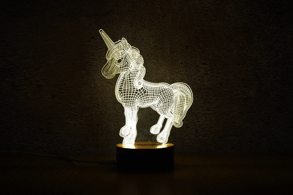 3D Unicorn Night Lights - Farertop