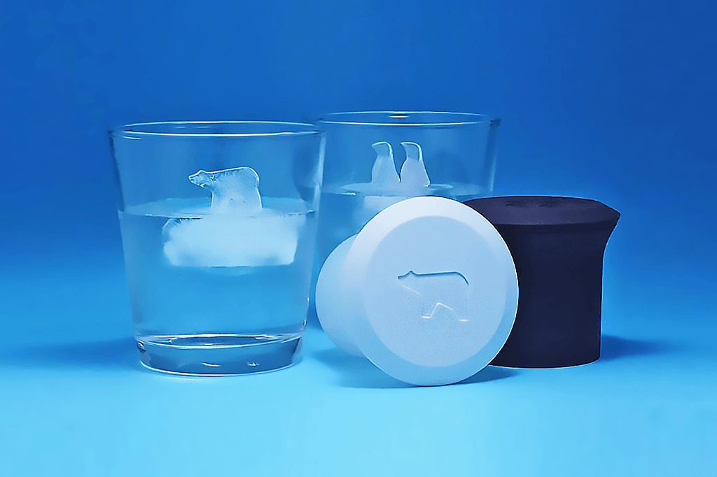 Penguin and Polar Bear Shaped Ice Molds (2PCS) - Farertop