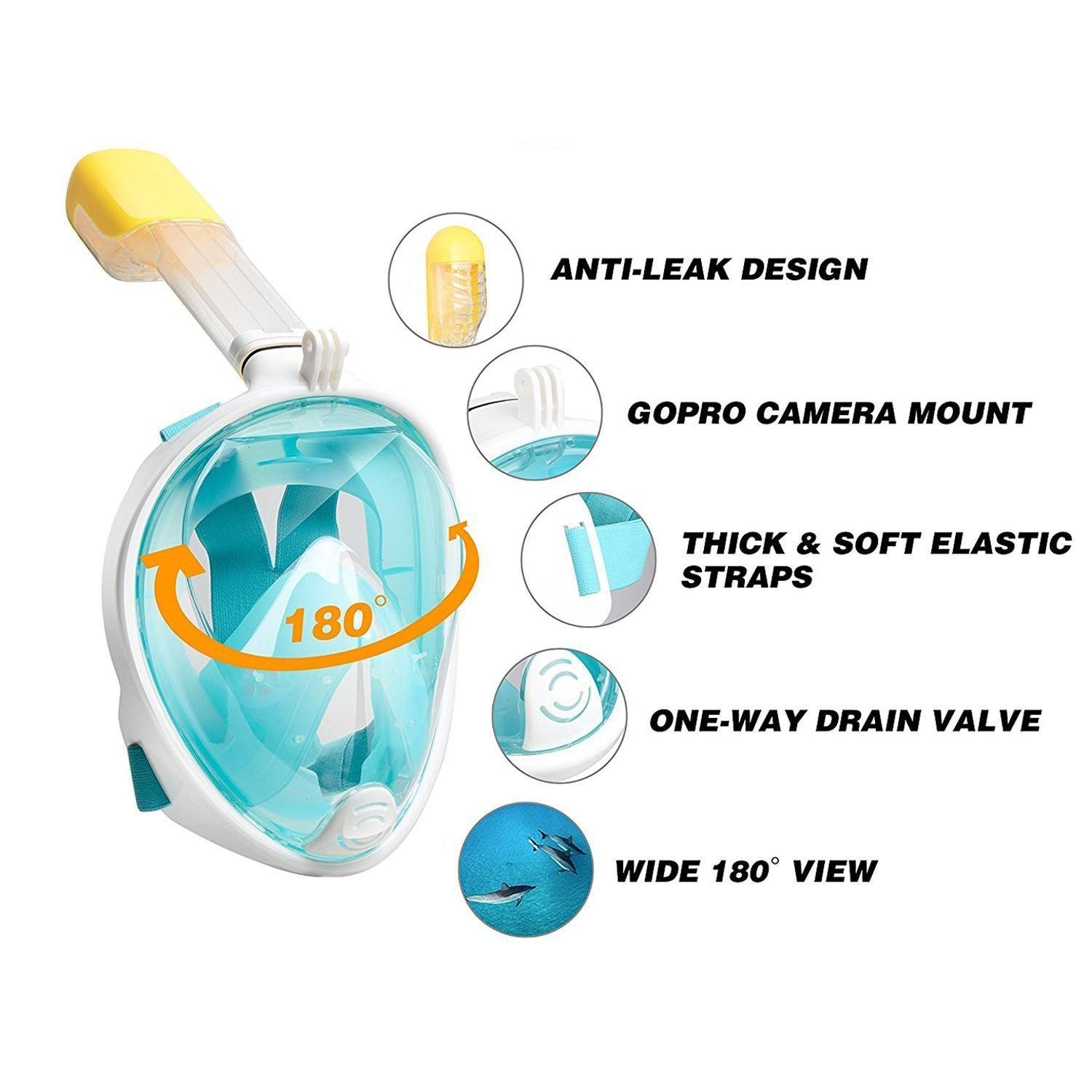 Anti-fog Full Face Snorkeling Mask - Farertop