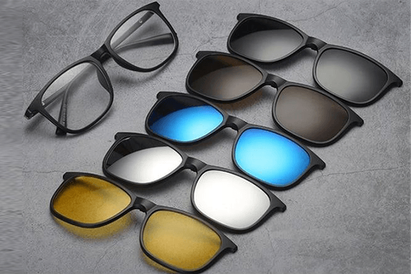 6 in 1 Fashion Magnetic Sunglasses - Farertop