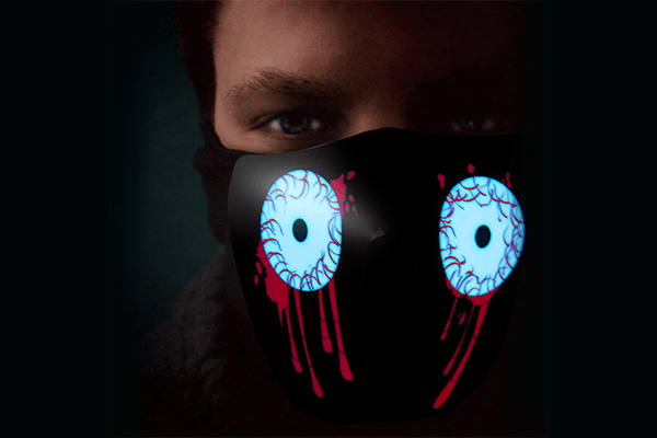 LED Rave Mask (Blood Eyes) - Farertop