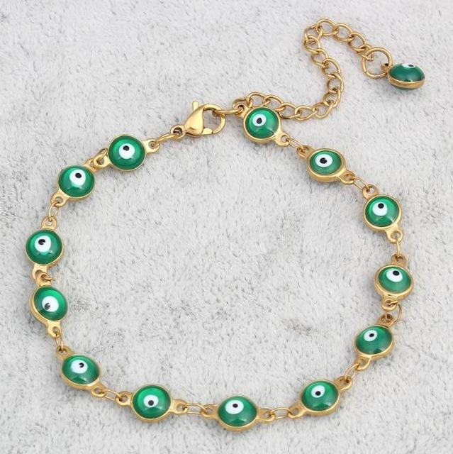 Colorful Enamel Evil Eye Chain - Farertop