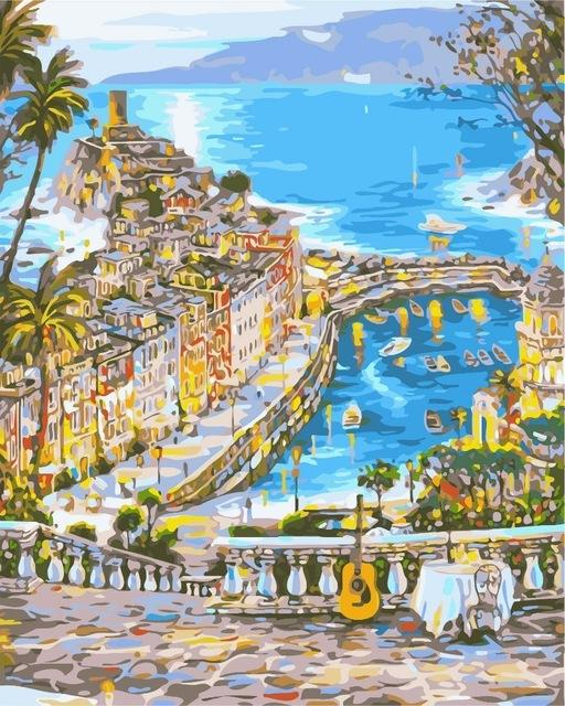 DIY Painting By Numbers - City Landscape - Farertop