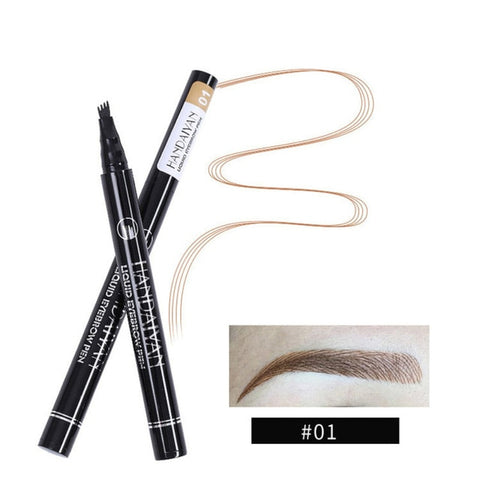 Waterproof 4-tip Eyebrow Pen