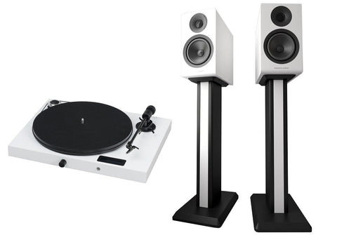 Acoustic Energy AE300 Standmount Speakers / Pro-Ject Jukebox E Turntable Bundle