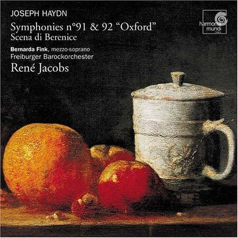 Symphonies - Nos. 91 And 92 'oxford' (Jacobs) CD