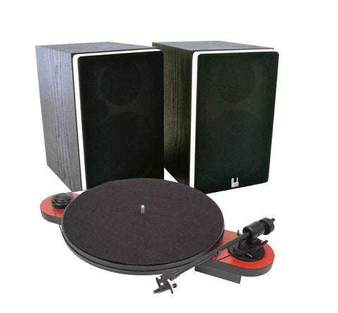 Pro-Ject Elemental Turntable & Roth VA4 Active Speaker System - Kronos AV