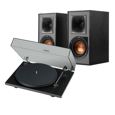 Klipsch R-41PM Active Speakers & Pro-Ject Primary E Turntable System - Kronos AV