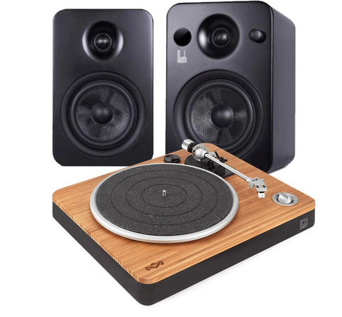 House of Marley Stir It Up Turntable & Roth OLi POWA-5 Active Speakers - Kronos AV