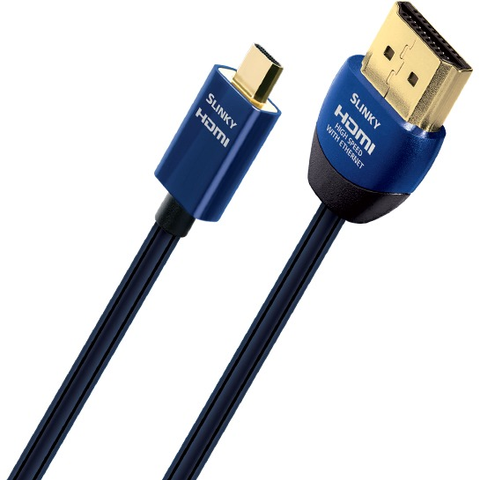 AudioQuest HDMI Slinky Micro to Standard HDMI Cable - Kronos AV - Interest Free Credit 0% - FREE Shipping