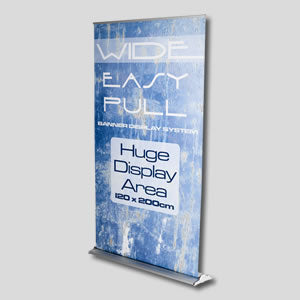 Extra wide roller banners for more impact