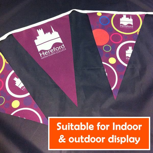 Custom printed fabric bunting