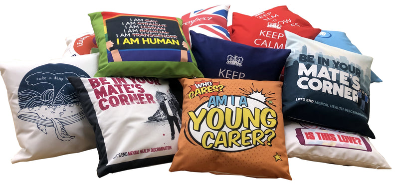 Printed personalised cushions